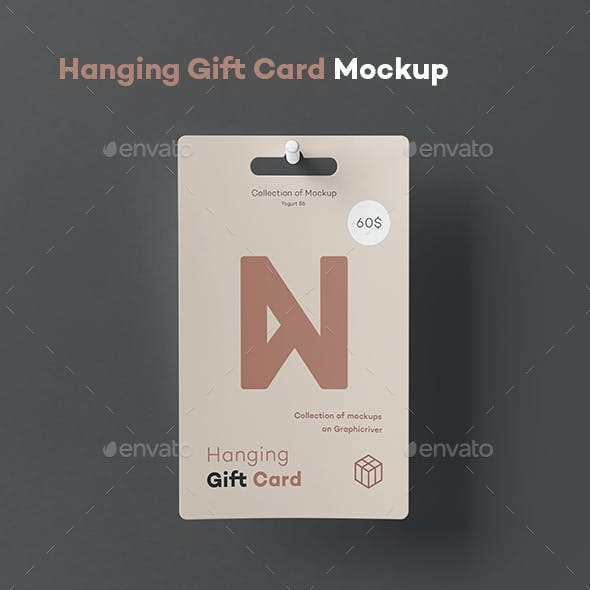 Hanging Gift Card Mock-up