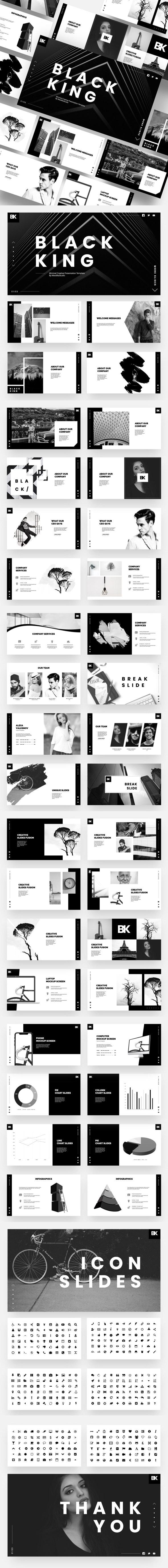 Black King - Minimal Creative Google Slides Template - Google Slides Presentation Templates