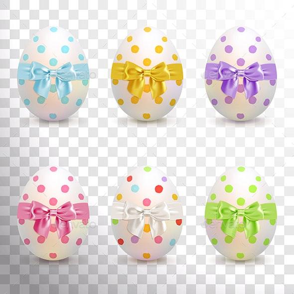 Painted Easter Eggs Set - Decorative Symbols Decorative