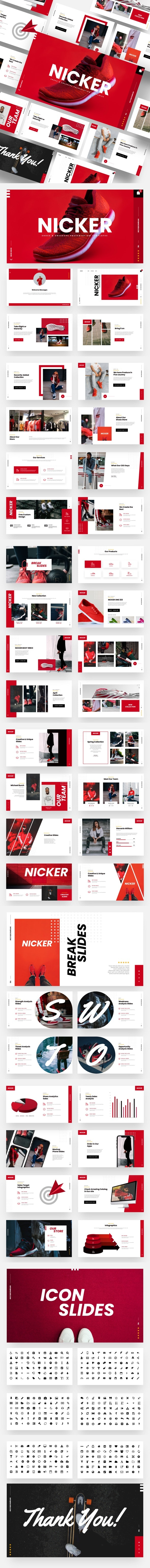 Nicker - Shoes & Sneakers Keynote Template - Business Keynote Templates