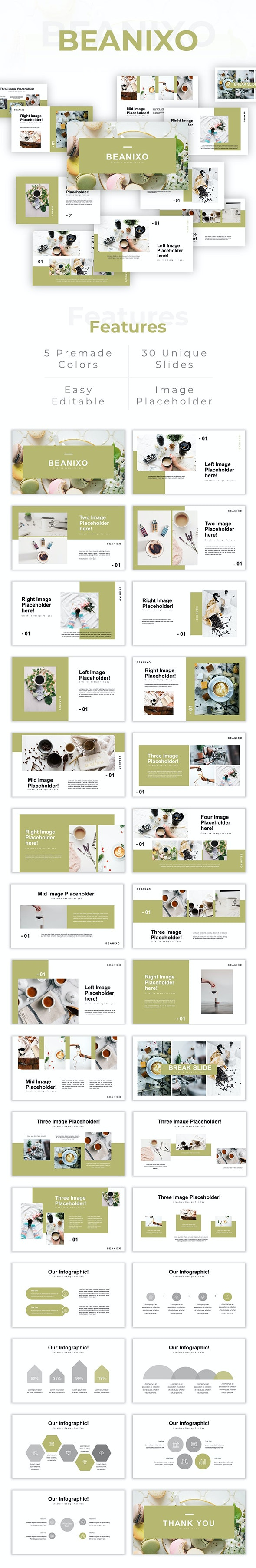 Beanixo - Creative Coffee Presentaion PowerPoint Template - Creative PowerPoint Templates
