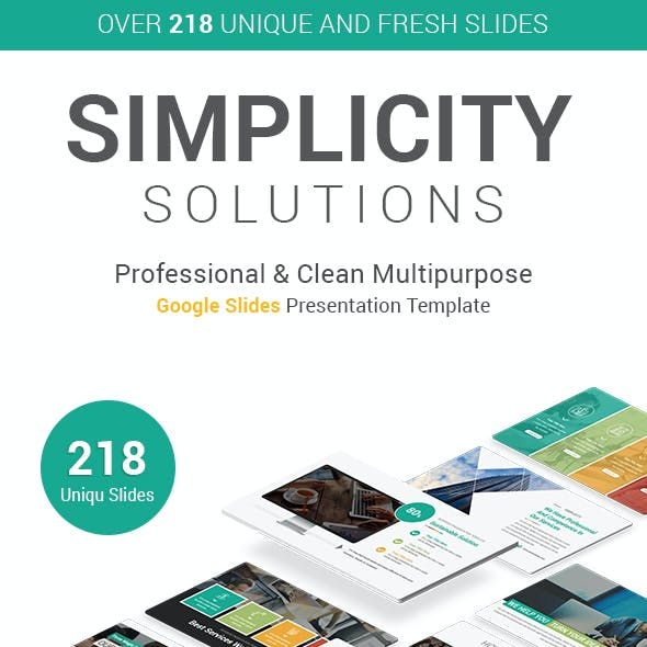Simplicity Solutions Google Slides Presentation Template