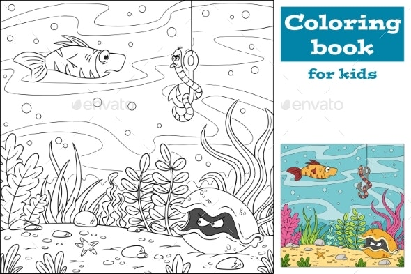 Coloring Book For Kids - Backgrounds Decorative