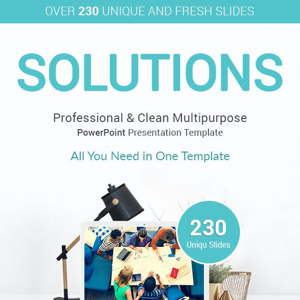 Solutions Business PowerPoint Presentation Templates