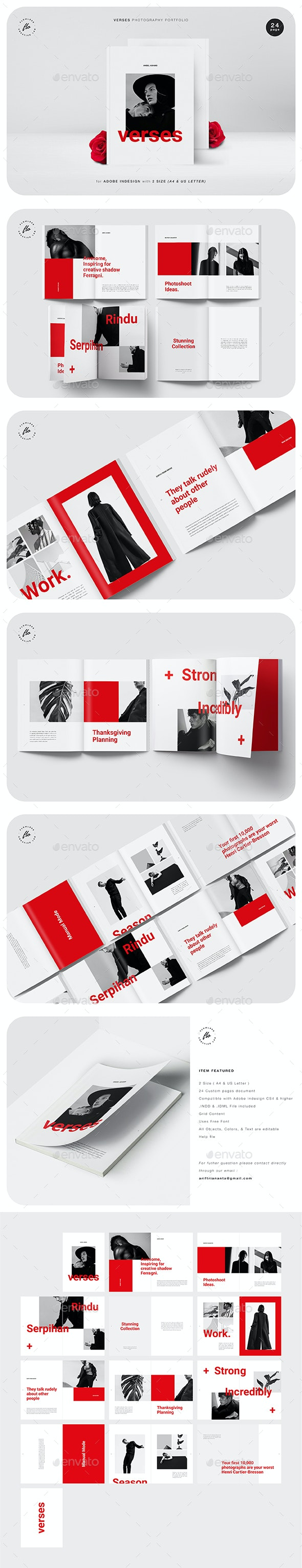 Verses Photography Portfolio - Magazines Print Templates