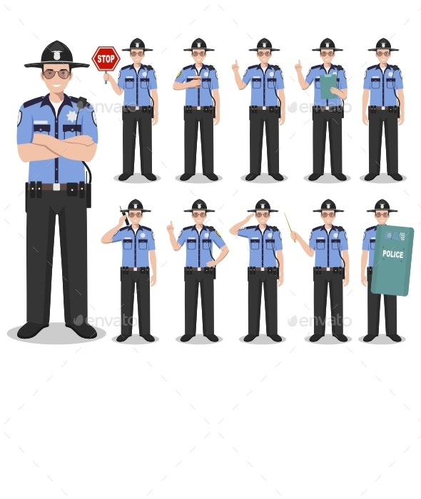 Police Concept - People Characters