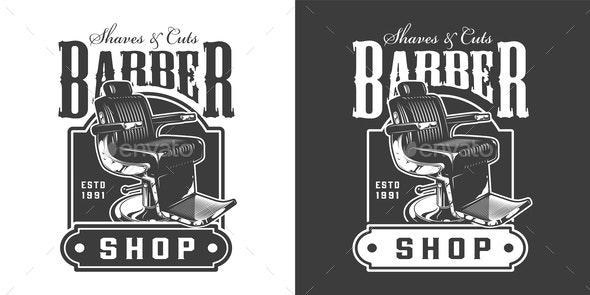 Vintage Barbershop Badge - Miscellaneous Vectors