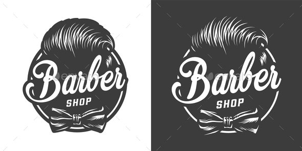 Vintage Barbershop Emblem - Miscellaneous Vectors