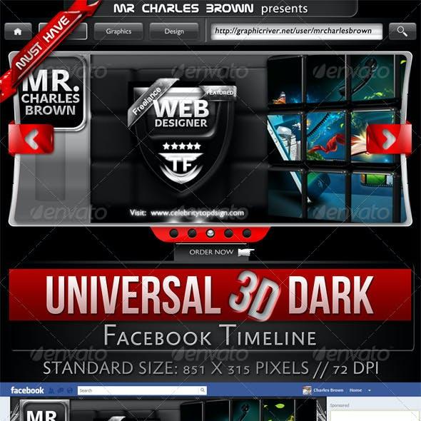 Universal 3D Dark Facebook Timeline