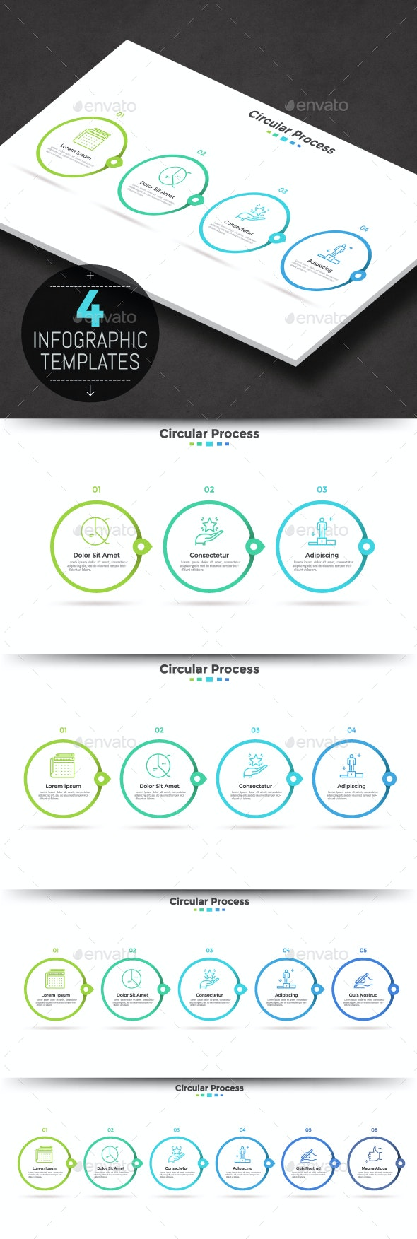 Modern Infographic Timeline Templates - Infographics