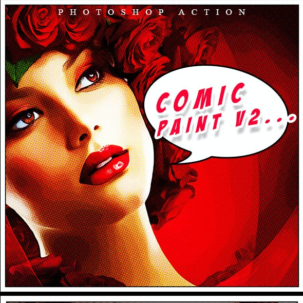 Comic Paint V2 Photoshop Action