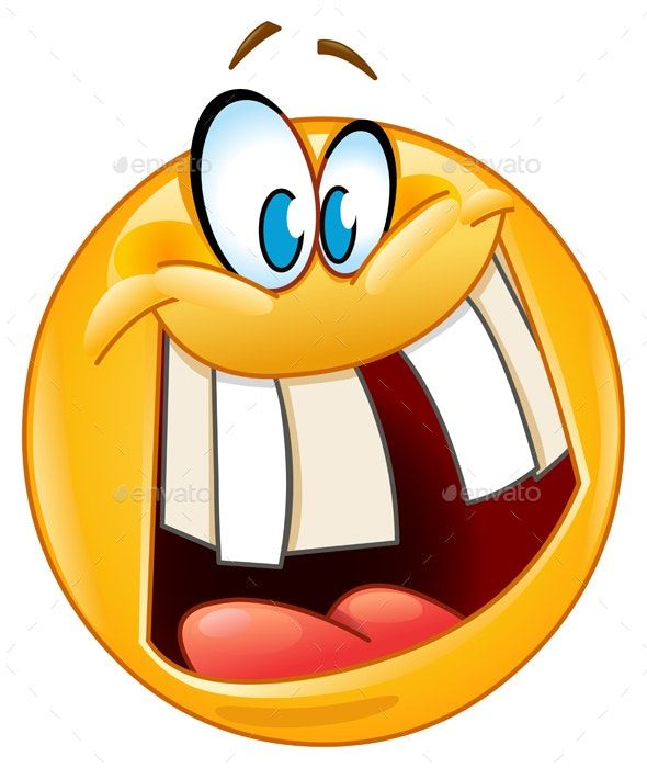 Crazy Smile Emoticon - People Characters