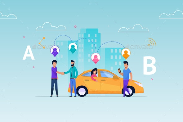 Taxi Carsharing Service - Industries Business