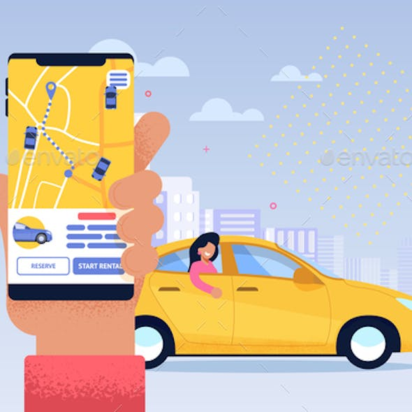 Online Taxi Service Application Transport Sharing