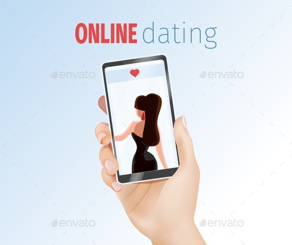Male Hand Holding Phone with Woman - Communications Technology