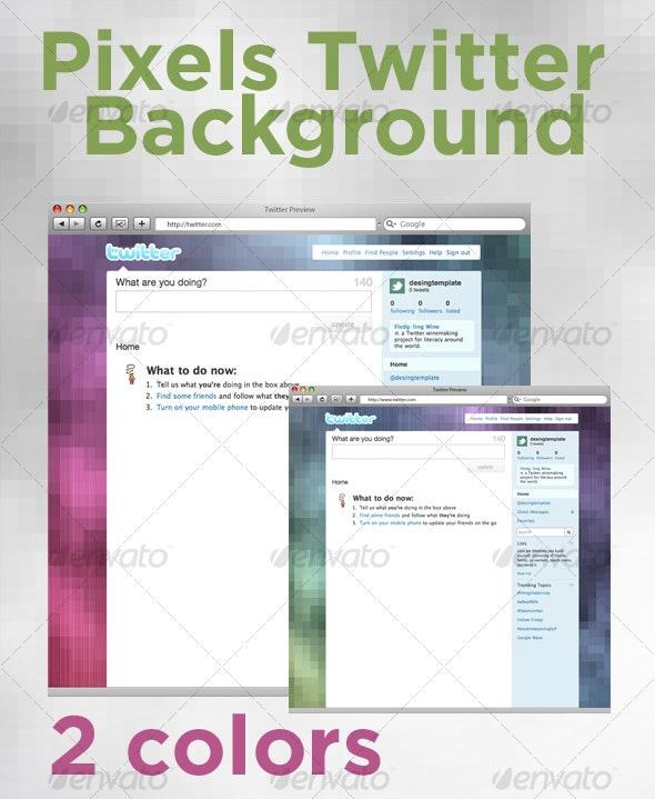 Pixel Twitter Background - Miscellaneous Web Elements