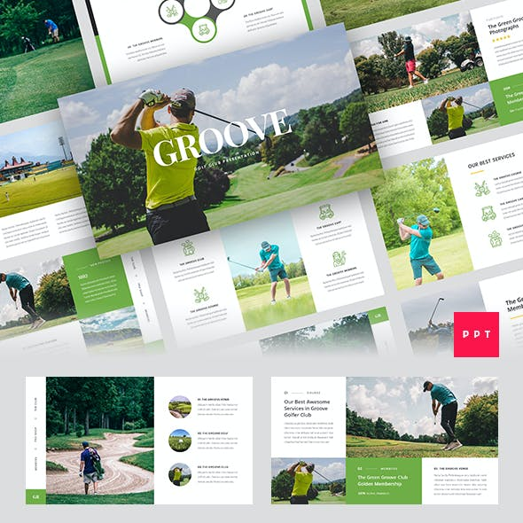 Groove - Golf Club PowerPoint Template