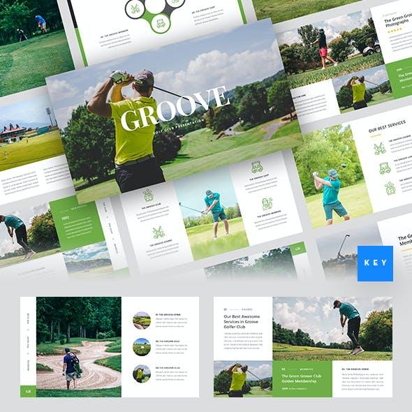 Groove - Golf Club Keynote Template