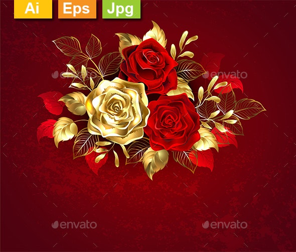 Three Jewelry Roses - Flowers & Plants Nature