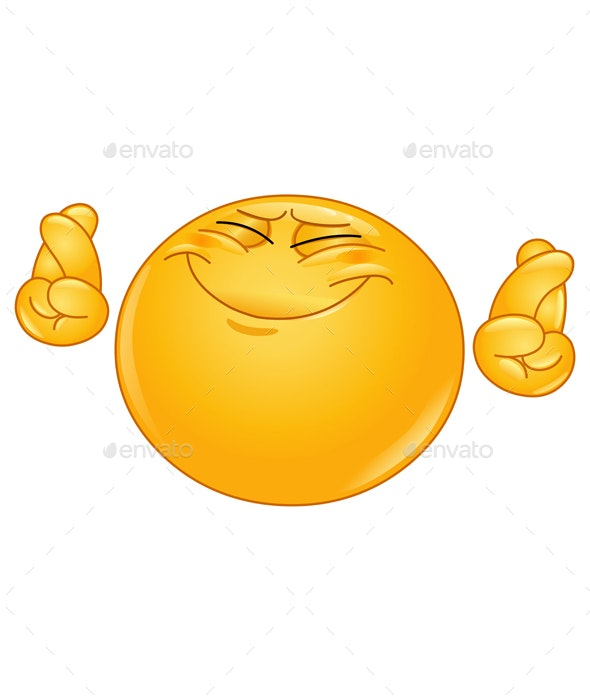 Crossing Fingers Emoticon - People Characters