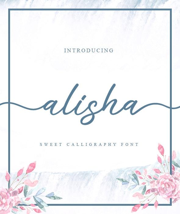 Alisha - Sweet Calligraphy Font - Calligraphy Script