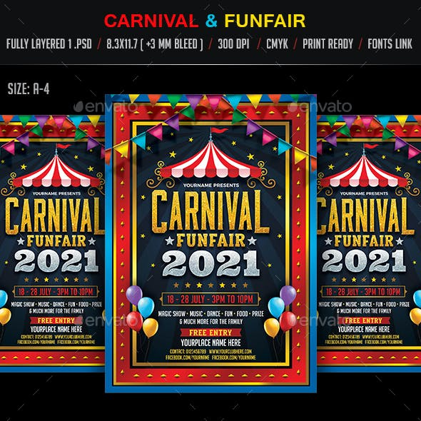 Carnival & Funfair Flyer