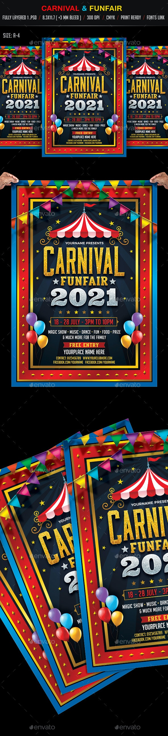 Carnival & Funfair Flyer - Events Flyers