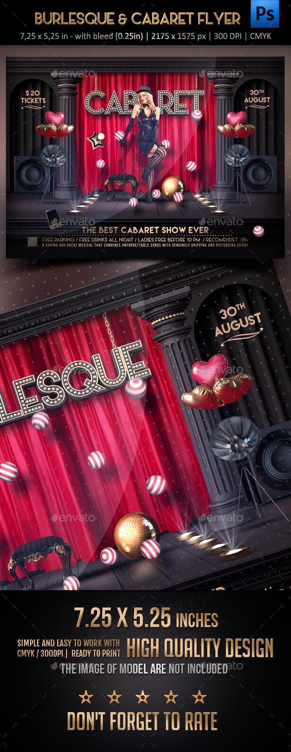 Burlesque & Cabaret Flyer - Concerts Events
