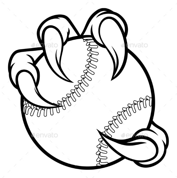 Eagle Bird Monster Claw Holding Baseball Ball - Sports/Activity Conceptual