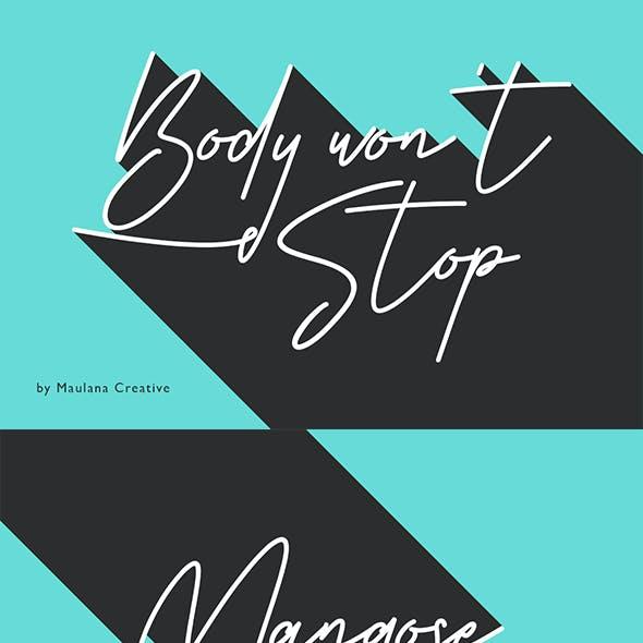 Body Wont Stop Signature Font