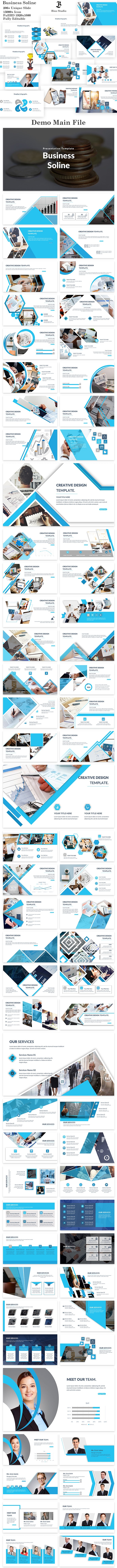 Business Soline Keynote Template - Business Keynote Templates