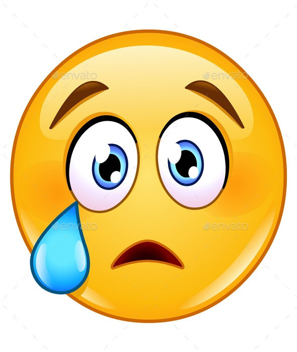 Crying Face Emoticon - People Characters
