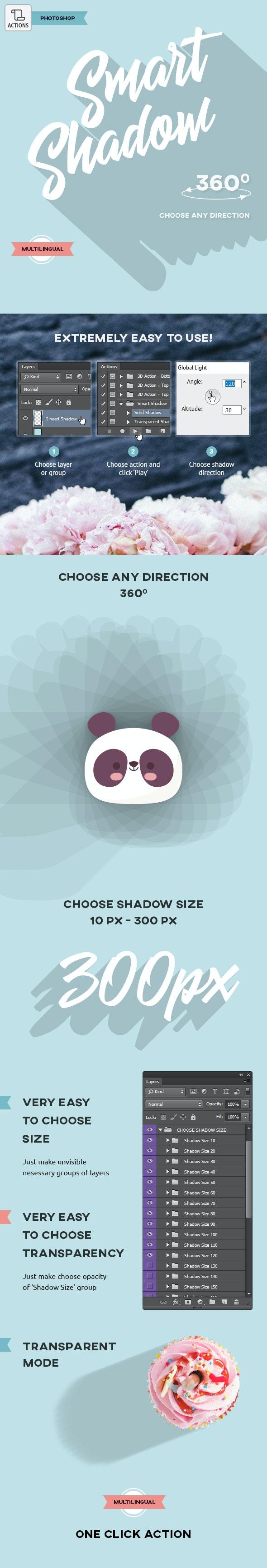 Smart Shadow - Photoshop Action - Utilities Actions