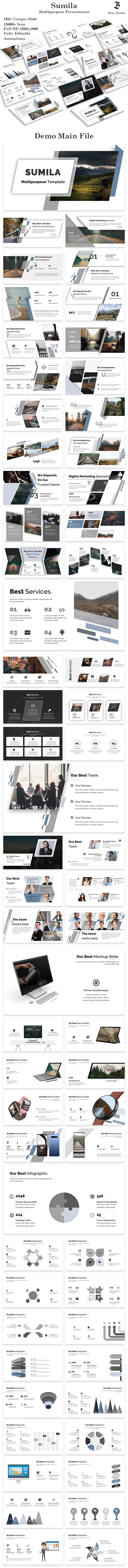 Sumila Multipurpose PowerPoint Template - Creative PowerPoint Templates