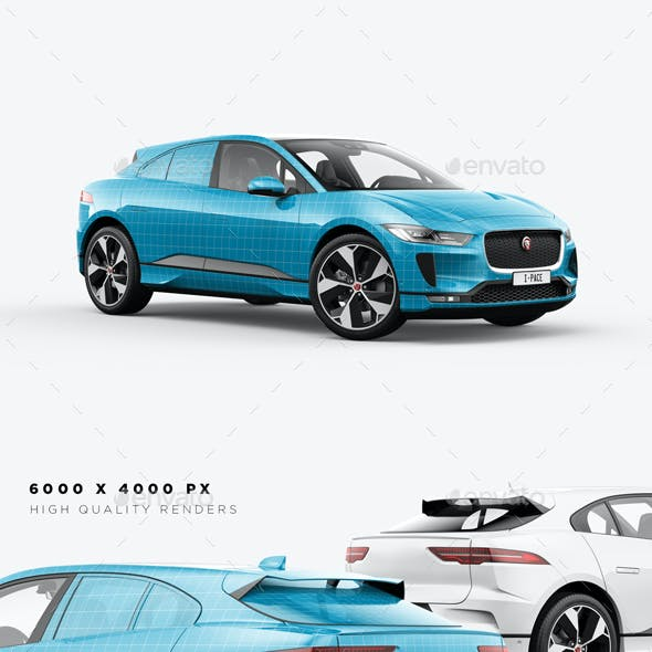 I-Pace Electric Car Mockup