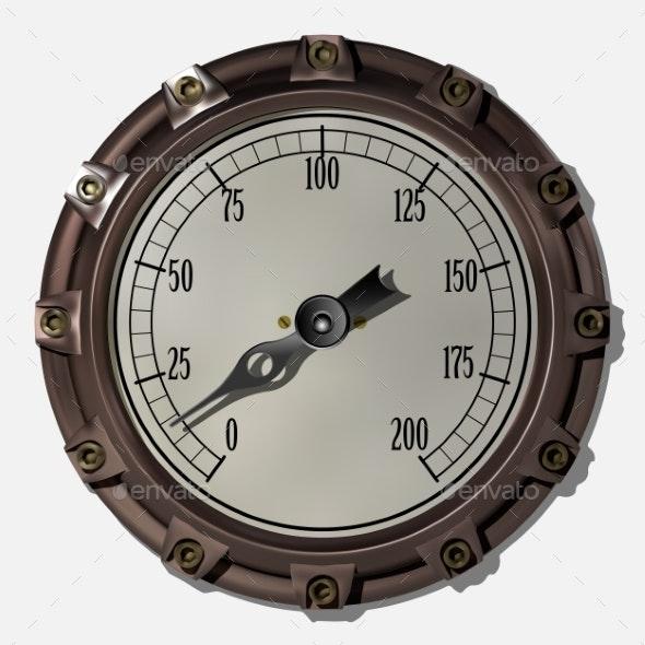 Measuring Device Vector - Technology Conceptual