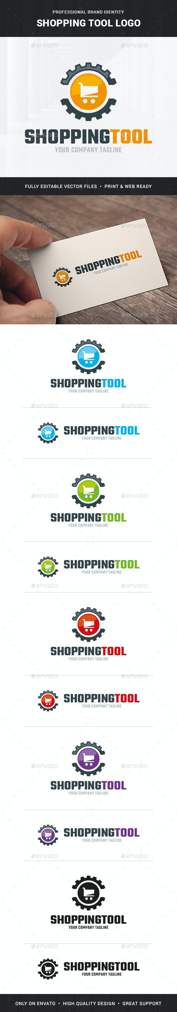 Shopping Tool Logo Template - Symbols Logo Templates