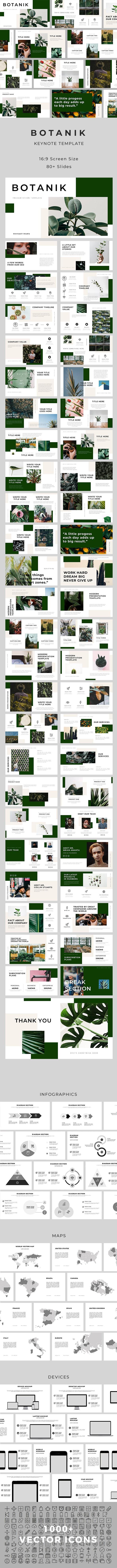 Botanik Keynote Template - Keynote Templates Presentation Templates