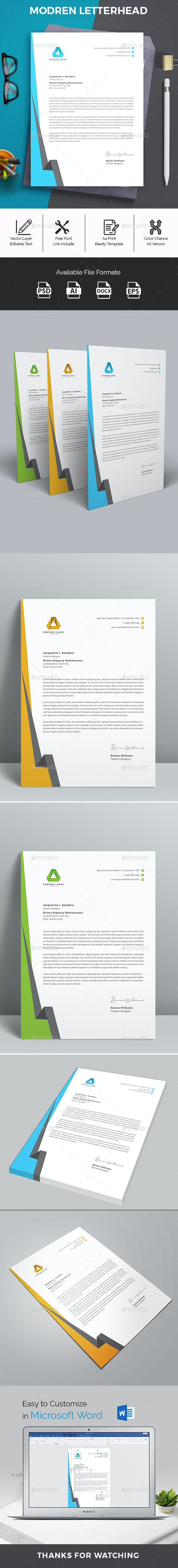 Letterhead Word - Stationery Print Templates