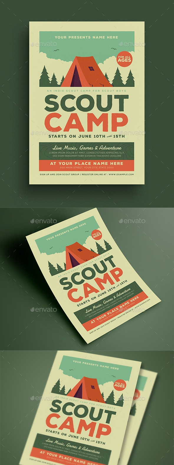 Scout Camp Event Flyer - Flyers Print Templates