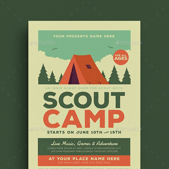 Scout Camp Event Flyer