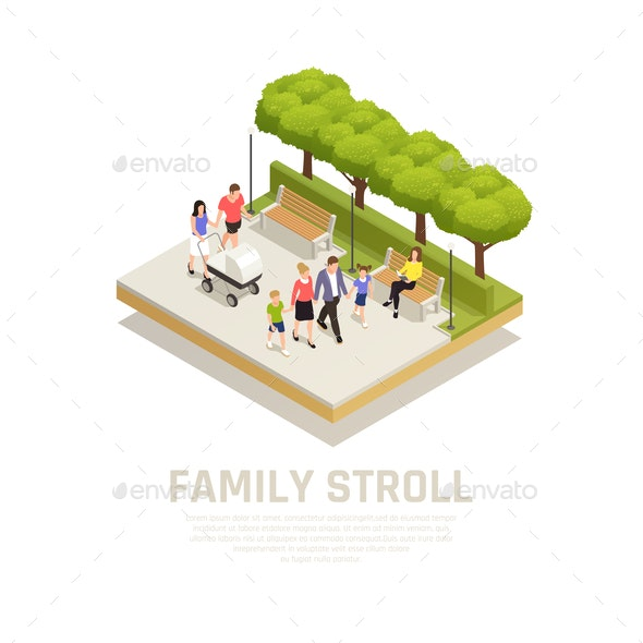 Family Stroll Concept - Sports/Activity Conceptual