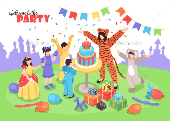 Party With Animator Illustration - People Characters