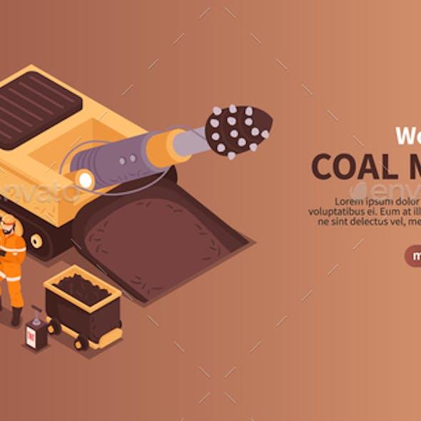 Coal Mines Work Banner