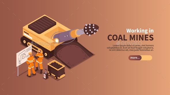 Coal Mines Work Banner - Industries Business
