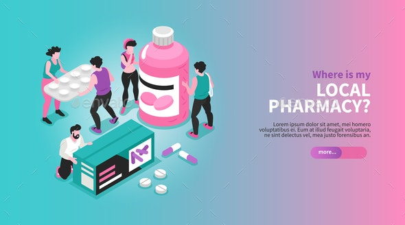 Pharmacy Horizontal Banner - Health/Medicine Conceptual