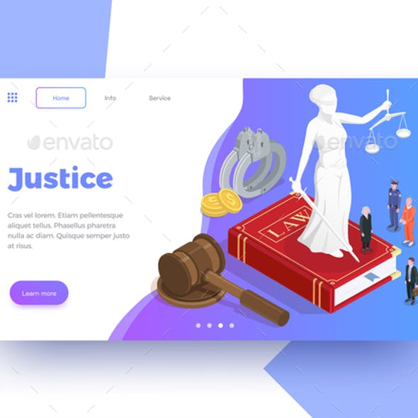 Isometric Justice Webpage Background
