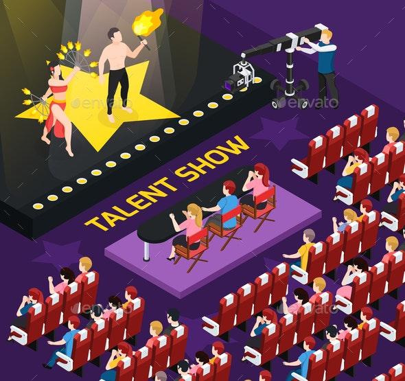 Talent Show People Composition - Miscellaneous Vectors
