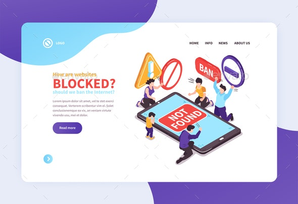 Banned Website Landing Page - Concepts Business