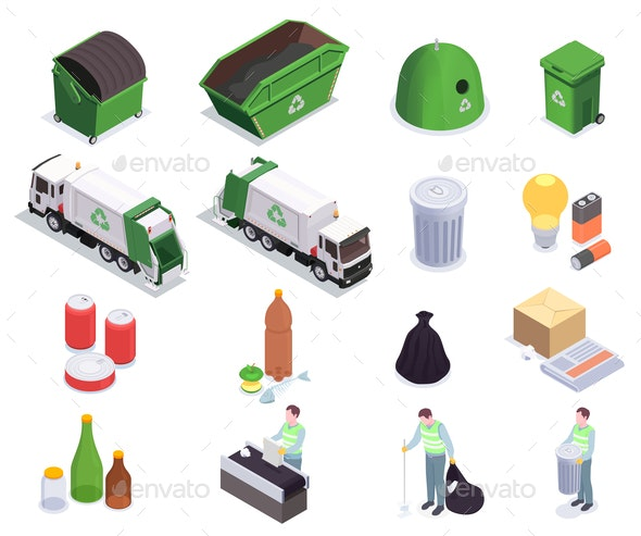 Recycling Waste Isometric Collection - Industries Business